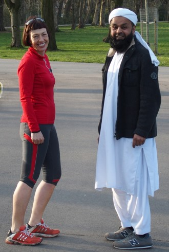 Kate and Aftab in Alex Park