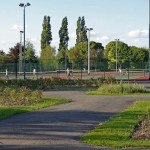 Rose garden and tennis courts, Chorlton park (Phil Champion) / CC BY-SA 2.0