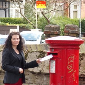 Angeliki by post box
